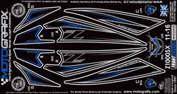 【ポイント5倍開催中!!】MOTOGRAFIX モトグラフィックス ステッカー・デカール ボディーパッド カラー:ブラック/ブルー Ninja1000[Z1000SX](11-)