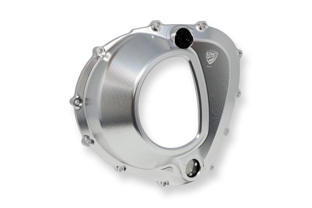 CNC Racing CNCレーシング エンジンカバー クラッチカバー クリア MV AGUSTA 4気筒 カラー:アルジェント