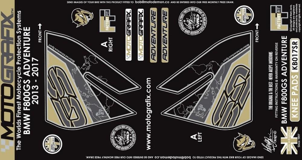 MOTOGRAFIX モトグラフィックス ステッカー・デカール ボディーパッド カラー:ベージュ F800GS Adventure(13-17)