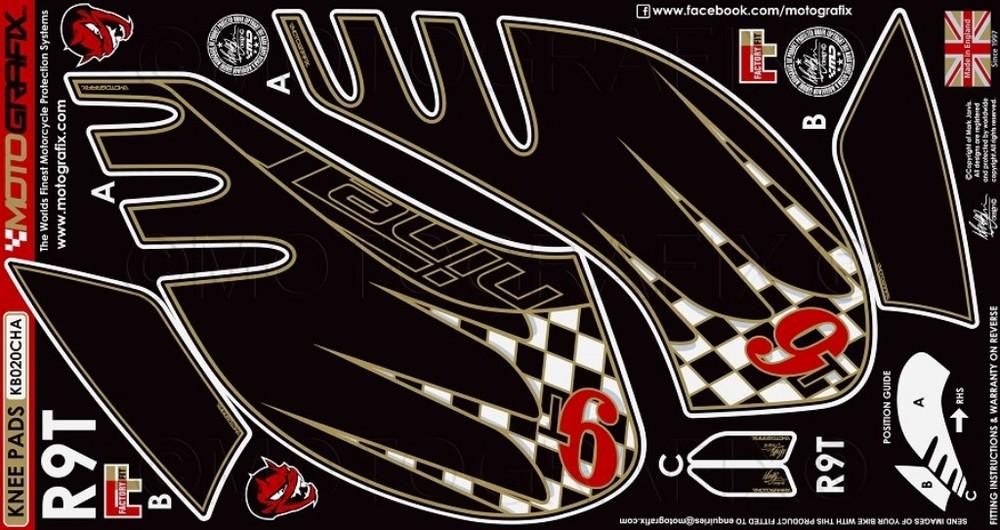 【ポイント5倍開催中!!】MOTOGRAFIX モトグラフィックス ステッカー・デカール ボディーパッド カラー:CHA R nineT