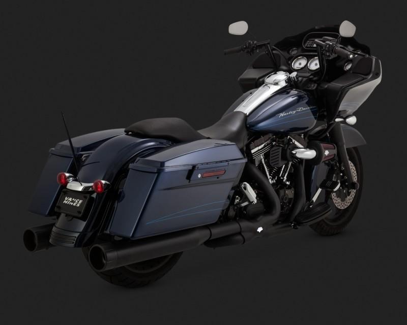 VANCE&HINES バンス&ハインズ オーバーサイズ 450 レイダー スリップオンマフラー ブラック(OVERSIZED 450 RAIDER SLIP-ONS BLACK)【MUFFLER RAD BLK [1801-0820]】