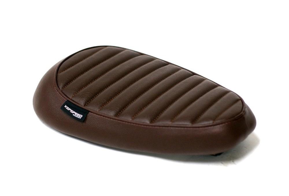 GM-MOTO ジーエムモト シート本体 カスタムシングルシート カラー:ブラウン スーパーカブ リトルカブ