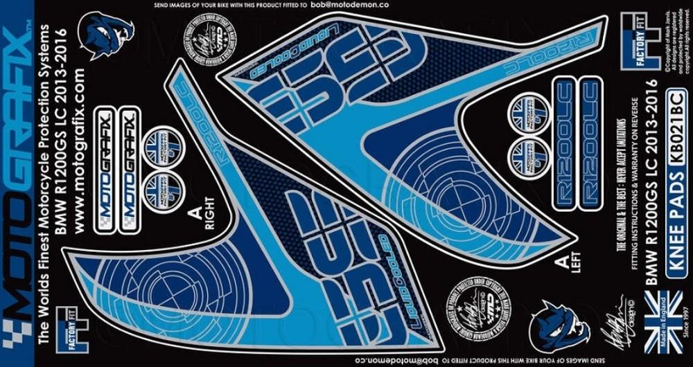【ポイント5倍開催中!!】MOTOGRAFIX モトグラフィックス ステッカー・デカール ボディーパッド カラー:ブラック/カーボン R1200GS