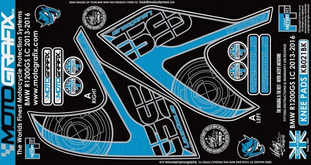 【ポイント5倍開催中!!】MOTOGRAFIX モトグラフィックス ステッカー・デカール ボディーパッド カラー:ブラック R1200GS