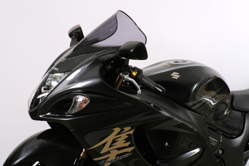 MRA エムアールエー スクリーン レーシング カラー:ブラック/グラデーション無し GSX1300R ハヤブサ(隼)