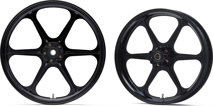 Bel-Fast ベルファスト ホイール本体 BG6 ホイールセット カラー:グロスブラック タイプ:フロントシングルディスク YNA 00-03