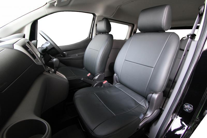 オグショー OGUshow トランポ用品 NV200バネット ESシートカバー フロントのみ カラー:ブラックレザーのみ NV200バネット ワゴン16X-2R