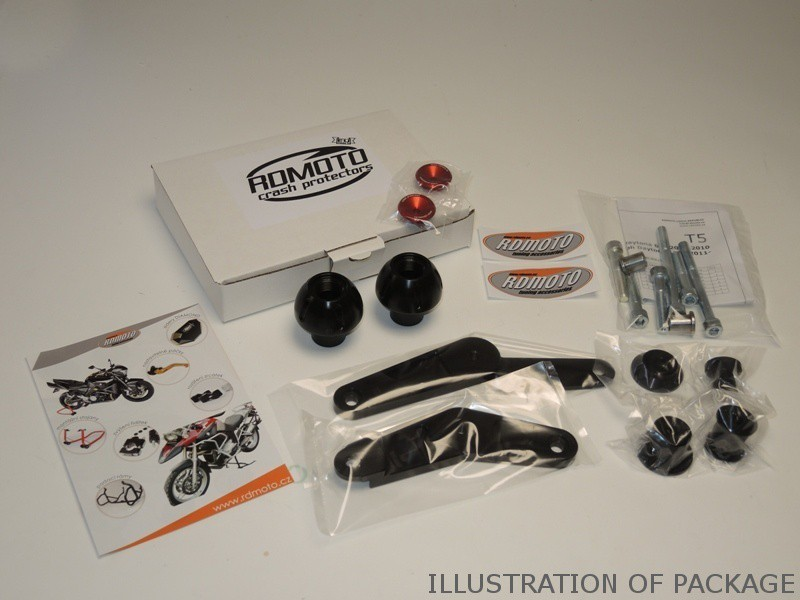 RDmoto アールディーモト ガード・スライダー クラッシュプロテクター【Crash protectors】 Colour:black polyamid Colour:silver aluminium anodized S 1000RR 15-