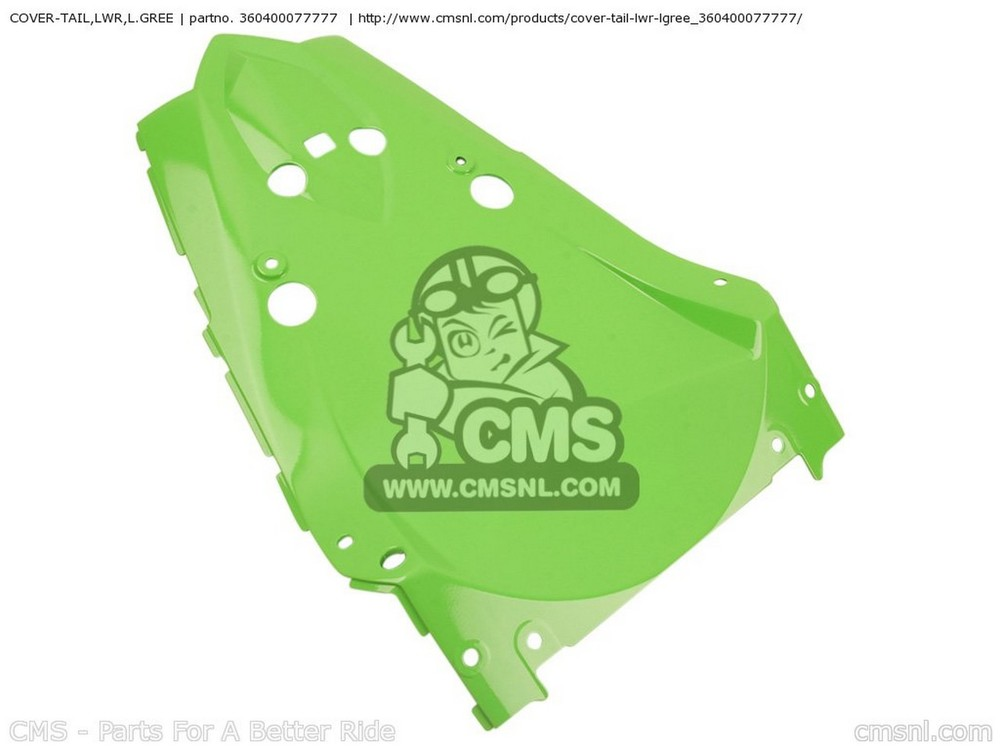 CMS シーエムエス テールカウル COVER-TAIL,LWR,L.GREE ZR1000B8F Z1000 2008 USA