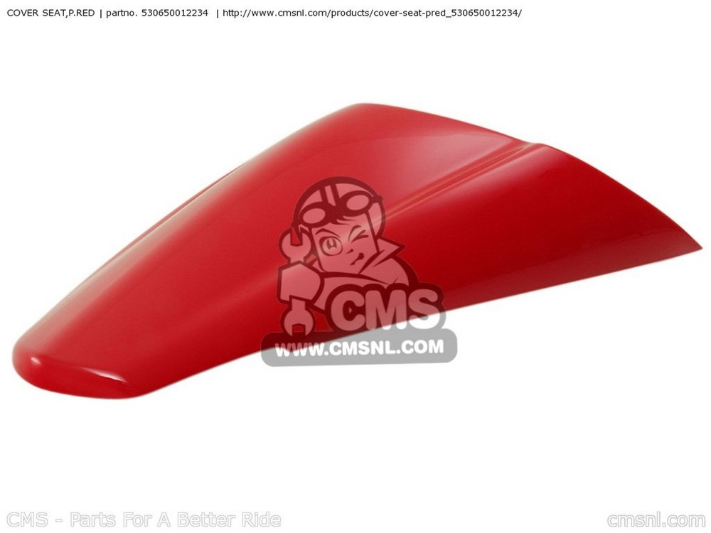 CMS シーエムエス その他シートパーツ COVER SEAT,P.RED ZX1400A6F NINJA ZX14 2006 USA CALIFORNIA CANADA