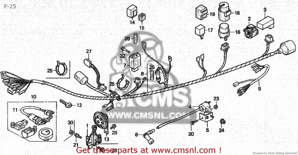 CMS シーエムエス ハーネス (35010-GCN-010) KEY SET