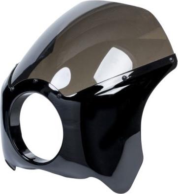 "HIGHWAY タイプ3 HAWK ハイウェイホーク ビキニカウル・バイザー フェアリング ブラック カフェレーサー フェアリング タイプ3 ABS ブラック スモークスクリーン、5-3/4""ヘッドライト用, ホコタマチ:f553cc20 --- sunward.msk.ru"
