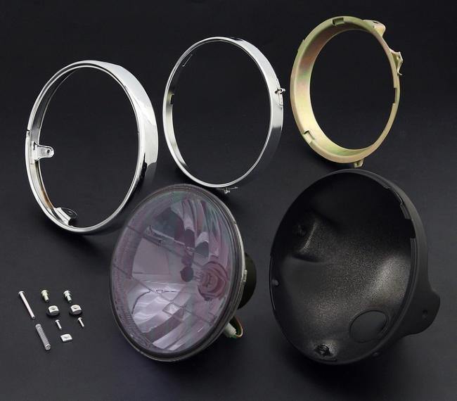 【在庫あり】BRIGHTEC ブライテック ラウンドタイプ 汎用8mm用レンズ ブラックケース&リム付