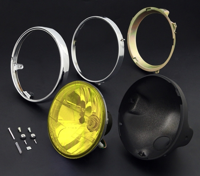 BRIGHTEC ブライテック ラウンドタイプ 汎用8mm用レンズ ブラックケース&リム付