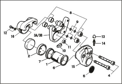 PMC ピーエムシー ブレーキキャリパー構成部品 ボディ 表