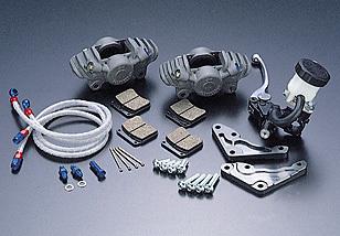 PMC ピーエムシー APレーシング(旧ロッキード)CP2696 2ピストンキャリパーキット キャリパーサポートカラー:ガンメタ マスターシリンダー付き Z1000J Z1000R Z1100GP