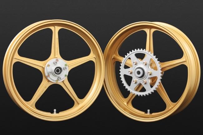 PMC ピーエムシー ホイール本体 アルミ鍛造ホイール SWORD-Heritage[ソード ヘリテージ] カラー:ゴールド Z1 (900SUPER4) Z2 (750RS/Z750FOUR)