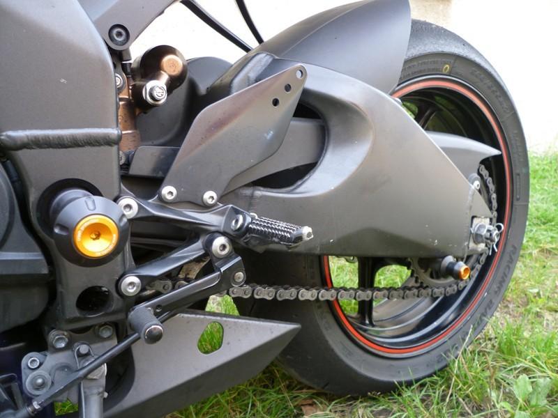RDmoto アールディーモト ガード・スライダー アヘッドツイスタープロテクター【Ahead twister protectors】 Colour:orange aluminium anodized ZX-10R 08-10