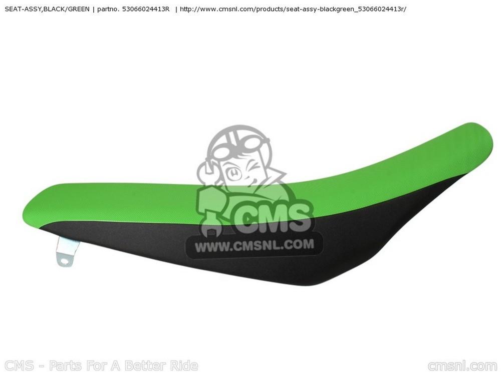CMS シーエムエス SEAT-ASSY,BLACK/GREEN KX250-XAFB KX250F USA KX450-EAF KX450F 2010 USA