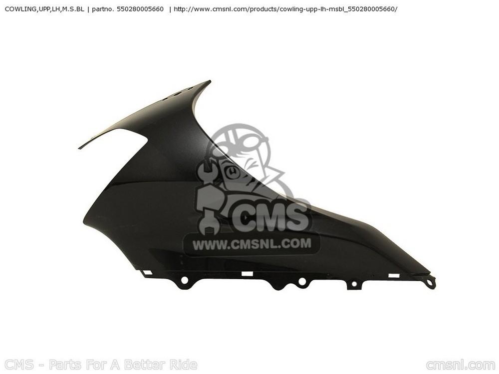 CMS シーエムエス アッパーカウル COWLING,UPP,LH,M.S.BL ZX1000C1 NINJA ZX10R 2004 USA CALIFORNIA CANADA