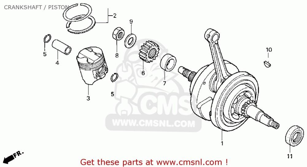 CMS シーエムエス その他エンジンパーツ CRANKSHAFT, COMP CB50R DREAM (4)