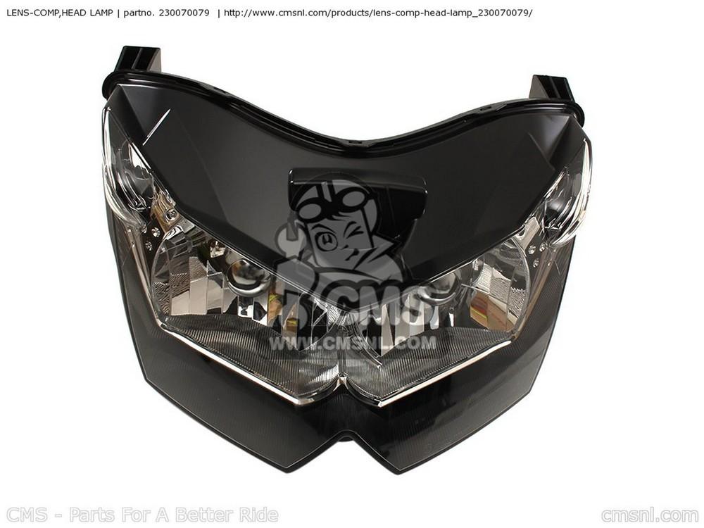 CMS シーエムエス ヘッドライト本体・ライトリム/ケース LENS-COMP,HEAD LAMP ZR1000B7F Z1000 2007 USA ZR1000B8F Z1000 2008 USA