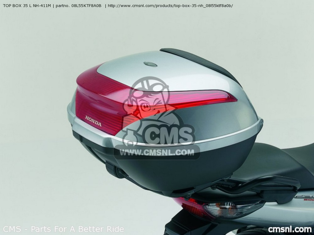 CMS シーエムエス (08L55KTF8A1B) TOP BOX 35 L NH-411M CBF600 2007 (7) CBF600N 2008 (8) EUROPEAN DIRECT SALES CBF600S 2007 (7)