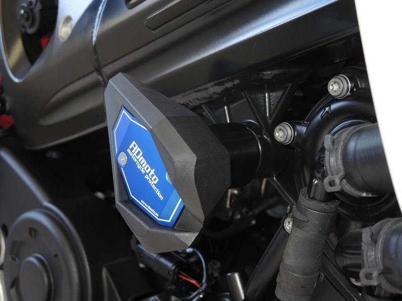 RDmoto アールディーモト ガード・スライダー クラッシュスライダー【Crash sliders】 Colour:blue aluminium anodized Colour:white polyamid F800 R 14