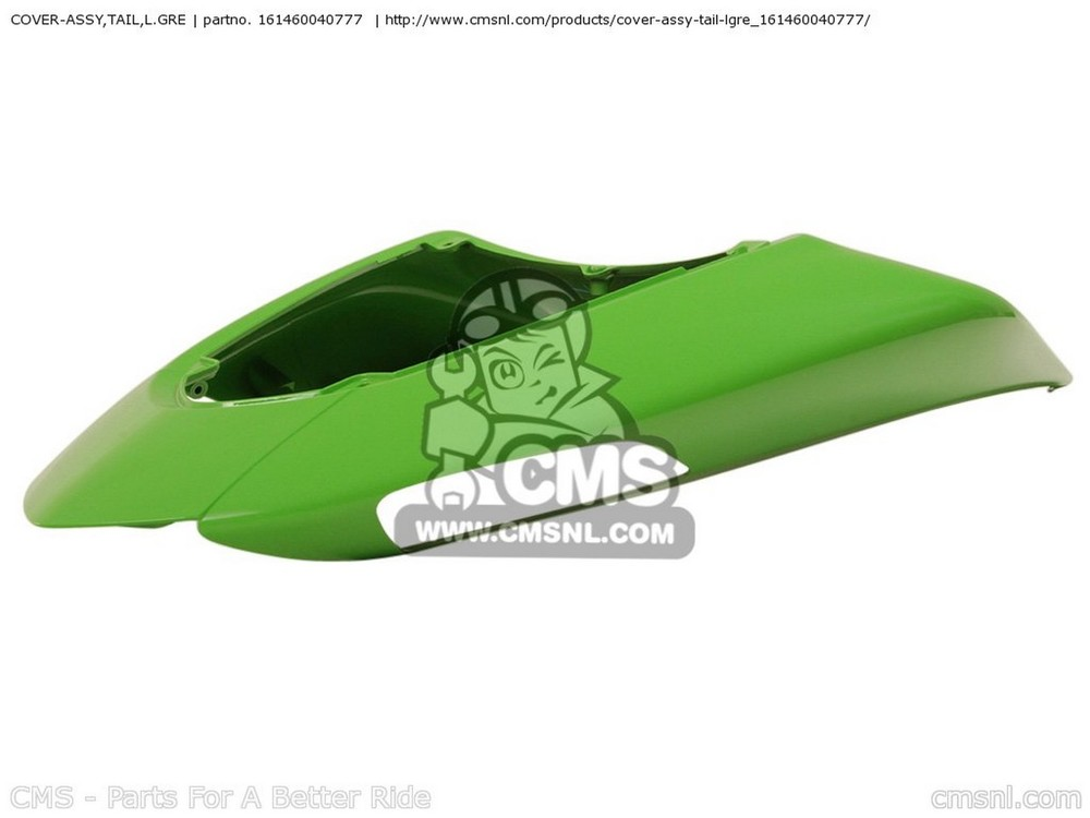 CMS シーエムエス COVER-ASSY,TAIL,L.GRE ZX1000D6F NINJA ZX10R USA CALIFORNIA CANADA