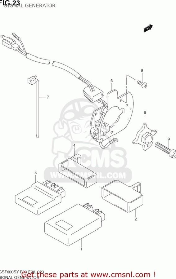 CMS シーエムエス その他電装パーツ (33110-31F01) STATOR,SIGNAL GENERATOR