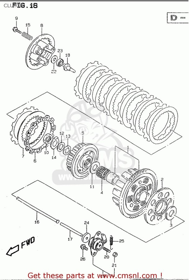 CMS シーエムエス クラッチ (2120026833) GEAR ASSEMBLY,PRIMARY DRIVE