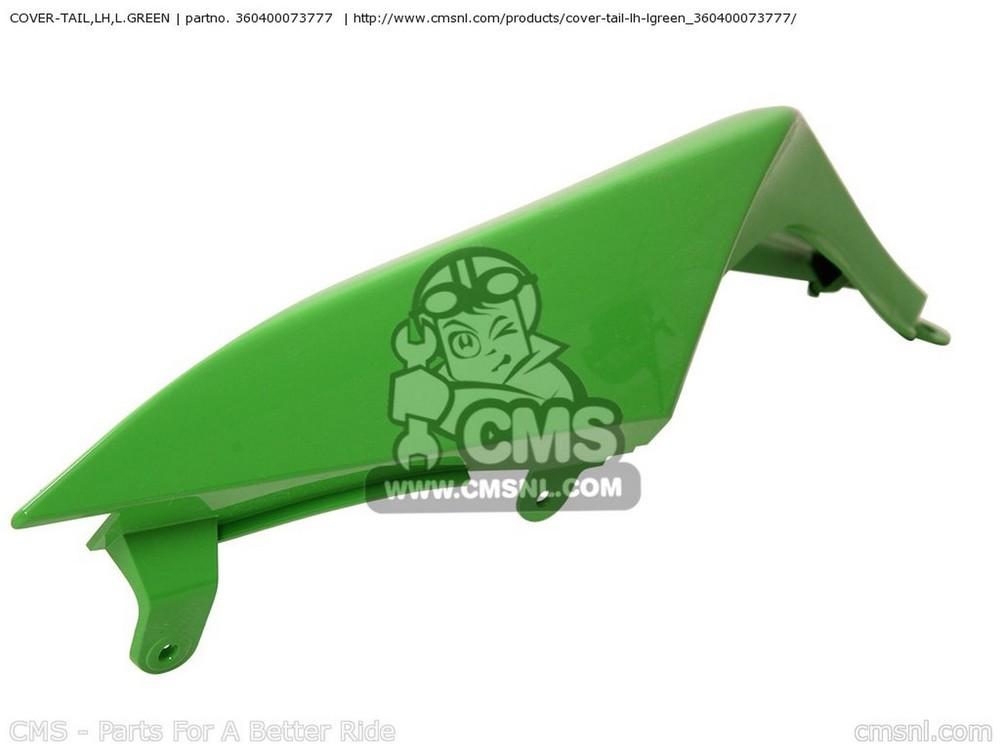CMS シーエムエス COVER-TAIL,LH,L.GREEN ZX1000E8F NINJA ZX10R USA