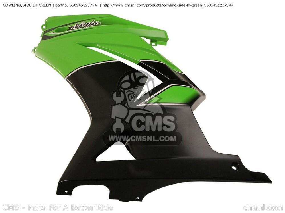 CMS シーエムエス サイドカバー COWLING,SIDE,LH,GREEN EX250JBFA NINJA 250R 2011 USA