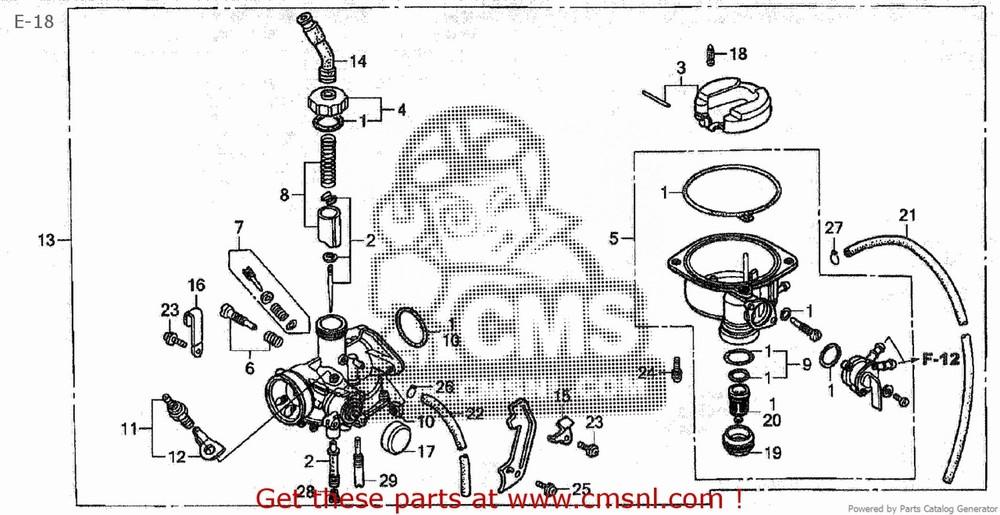 CMS シーエムエス キャブレター (16100-GBJ-J03) CARBURETOR ASSY (JDM) C50CM C50D C50S C50ST (5) JAPAN AA01-150 (JDM)
