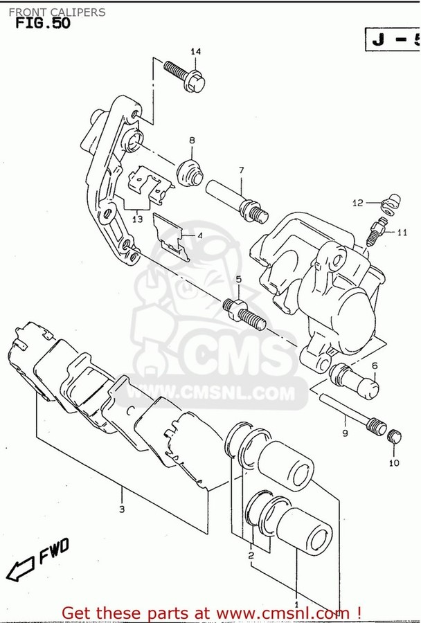 CMS シーエムエス キャリパー (59100-21E10-999) CALIPER ASSEMBLY,FRONT,RIGHT