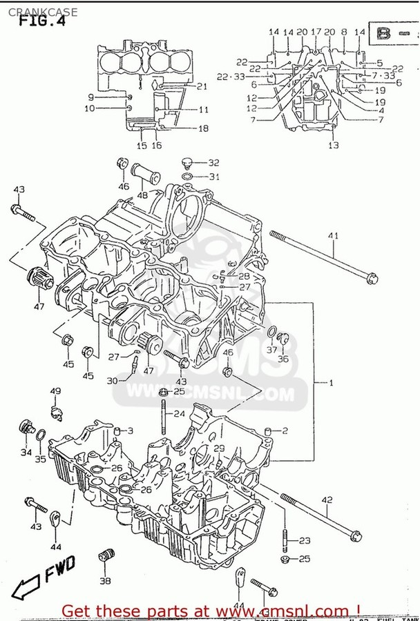CMS シーエムエス その他エンジンパーツ (1130126872) CRANKCASE SET