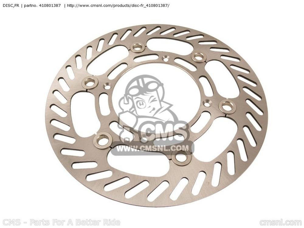 CMS シーエムエス ディスクローター DISC,FR KX500-E15 KX500 2003 USA CANADA KX500-E16 KX500 2004 USA CANADA