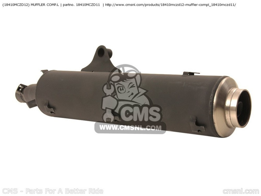 CMS シーエムエス スリップオンマフラー (18410-MCZ-D12) MUFFLER COMP.L