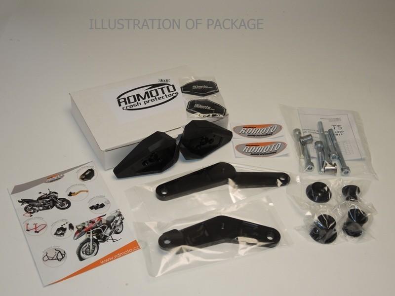 RDmoto アールディーモト ガード・スライダー クラッシュスライダー【Crash sliders】 Colour:black aluminium anodized Colour:black polyamid