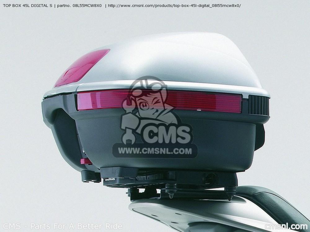 CMS シーエムエス トップケース・テールボックス (08L55-MCW-8X1) TOP BOX 45L DIGITAL S
