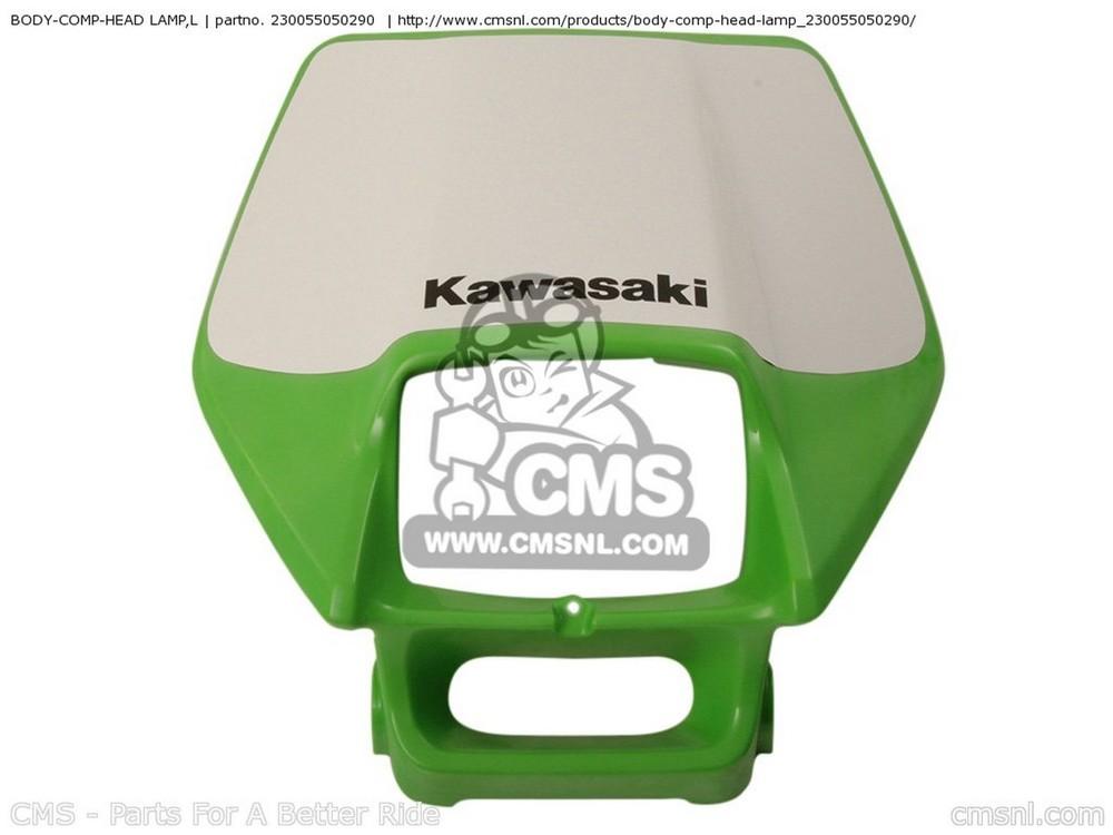 CMS シーエムエス アッパーカウル BODY-COMP-HEAD LAMP,L KDX200H6F KDX200 2006