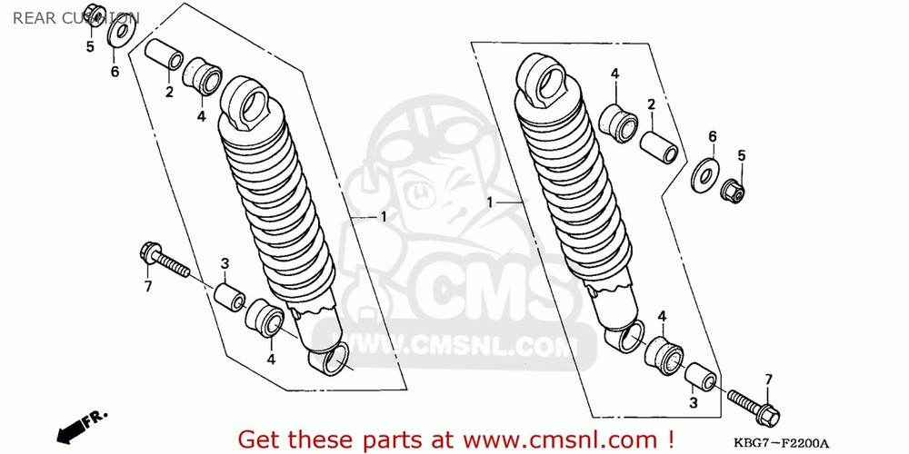 CMS シーエムエス リアサスペンション (52400KBG701) CUSHION ASSY,REAR