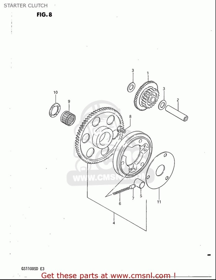 CMS シーエムエス その他エンジンパーツ CLUTCH SET,STARTER GS1100S 1983 (D) USA (E03)