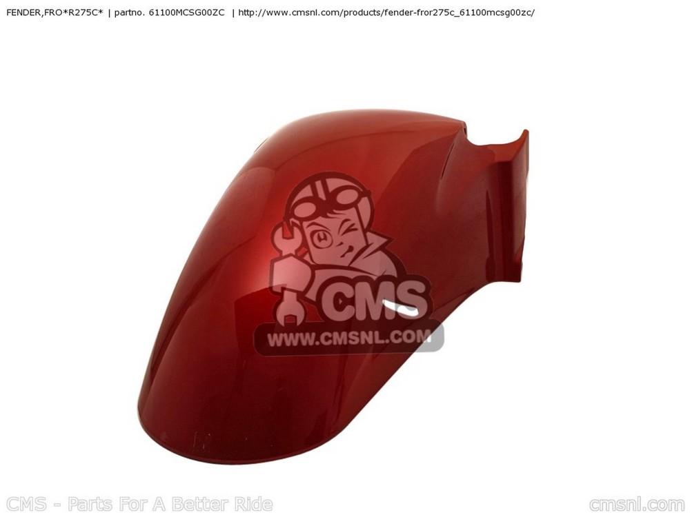 CMS シーエムエス フロントフェンダー FENDER,FRO*R275C* ST1300A PANEUROPEAN 2003 (3) AUSTRALIA / ABS