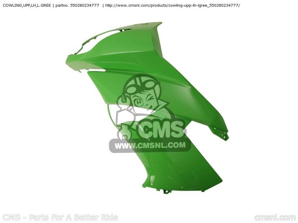 CMS シーエムエス COWLING,UPP,LH,L.GREE EX650C9F NINJA 650R 2009 USA