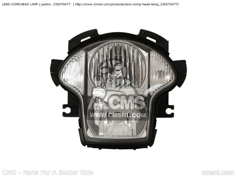 CMS シーエムエス ヘッドライト本体・ライトリム/ケース LENS-COMP,HEAD LAMP KLE650A8F VERSYS USA KLE650A9F VERSYS USA