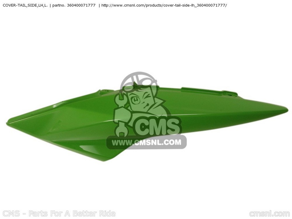 CMS シーエムエス テールカウル COVER-TAIL,SIDE,LH,L. ZR1000B8F Z1000 2008 USA