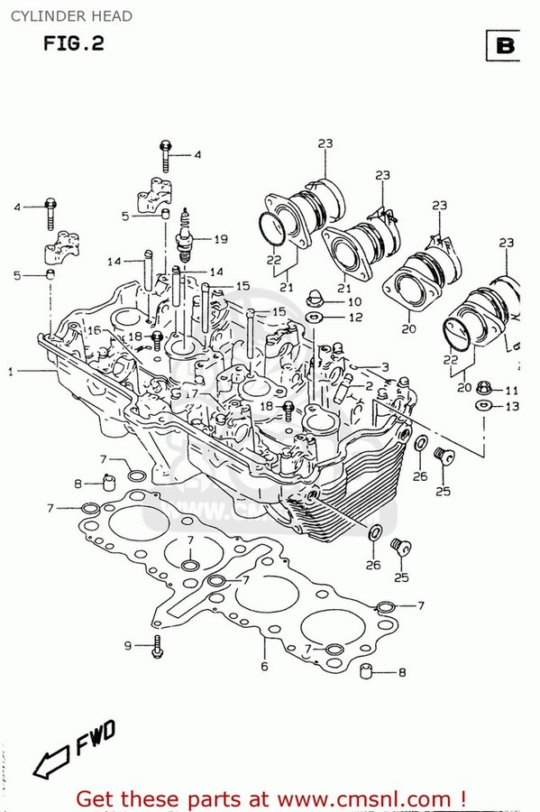 CMS シーエムエス その他エンジンパーツ (1110026E10) HEAD ASSEMBLY,CYLINDER