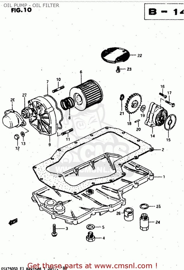 CMS シーエムエス その他エンジンパーツ (11511-45401) PAN,OIL GS750A 1983 (D) USA (E03) GS750T 1982 (Z) USA (E03) GS750T 1983 (D) USA (E03)