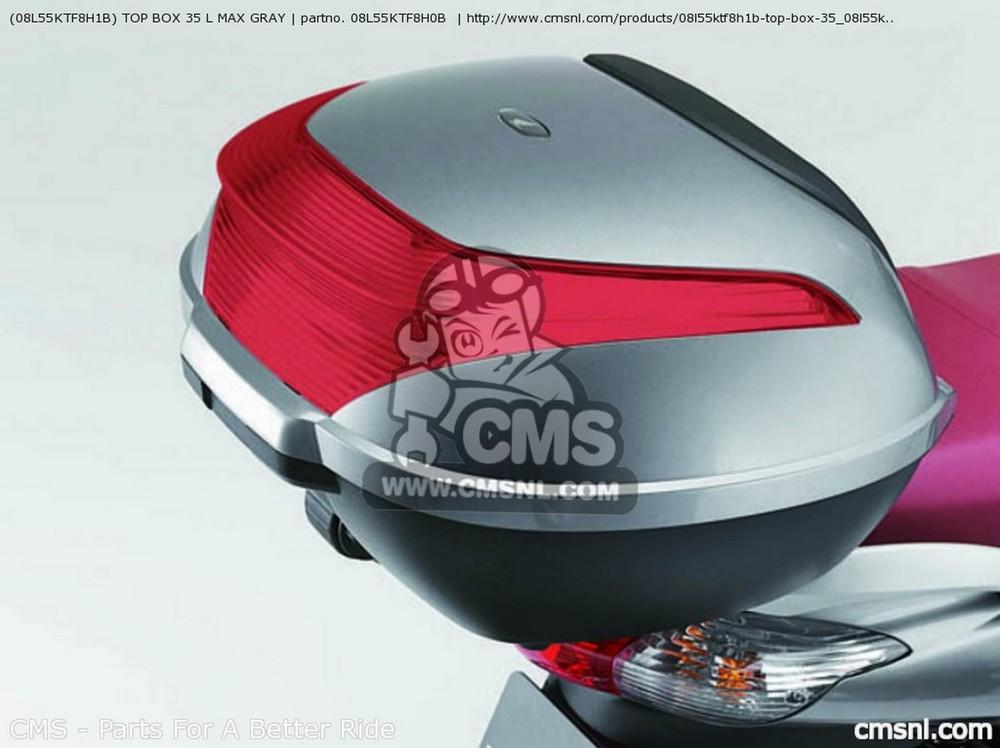 CMS シーエムエス トップケース・テールボックス (08L55KTF8H1B) TOP BOX 35 L MAX GRAY
